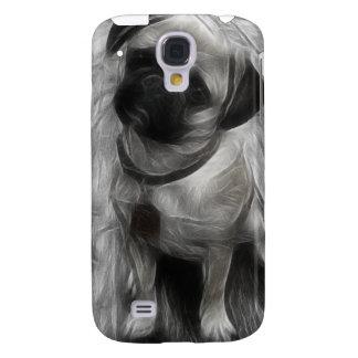Cubierta del fractal iPhone3G de la acuarela del b Funda Para Galaxy S4