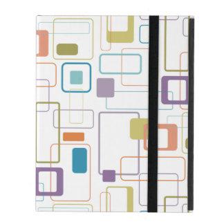 Cubierta del iPad del estilo del libro cuadrado de