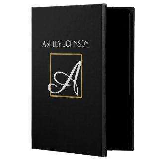 Cubierta del iPad del monograma del oro para la Funda Para iPad Air 2