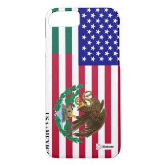 Cubierta del mexicano y del teléfono de la bandera funda iPhone 7