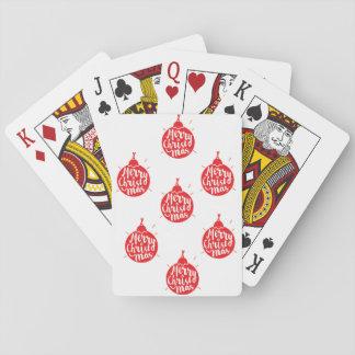 Cubierta del navidad de tarjetas baraja de cartas
