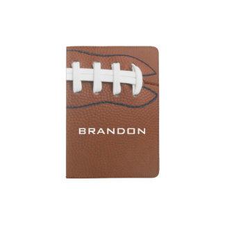 Cubierta del pasaporte del diseño del fútbol portapasaportes