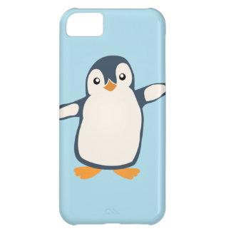 Cubierta del teléfono del abrazo del pingüino funda iPhone 5C