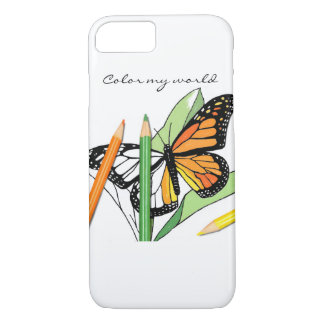 Cubierta del teléfono del colorante de la mariposa funda iPhone 7
