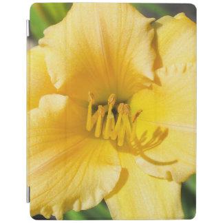 Cubierta elegante del iPad amarillo del lirio
