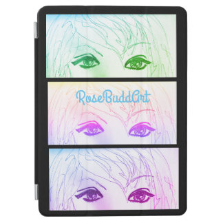 cubierta elegante del ipad, negra cubierta para iPad pro