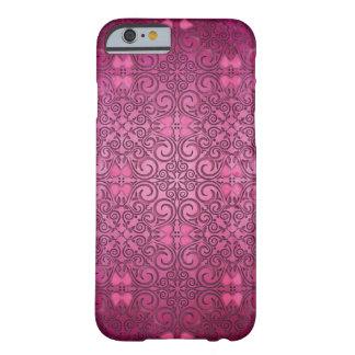 Cubierta floral de la fantasía rosada de la pasión funda para iPhone 6 barely there