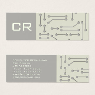 Cubierta futurista de la tecnología cibernética tarjeta de visita mini