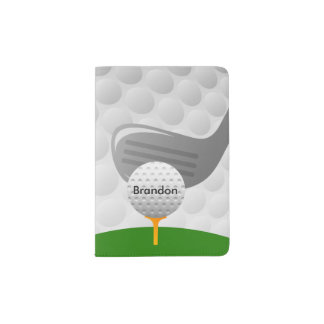 Cubierta Golfing del pasaporte del diseño Porta Pasaportes