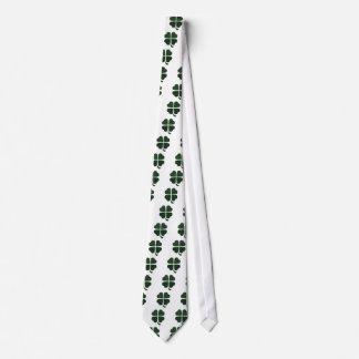 Cubierta gráfica de la hoja del verde cuatro corbatas personalizadas
