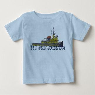 Cubierta gráfica del drenaje del remolcador del camiseta de bebé