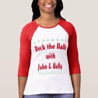 Cubierta los pasillos con la camiseta de Juan y
