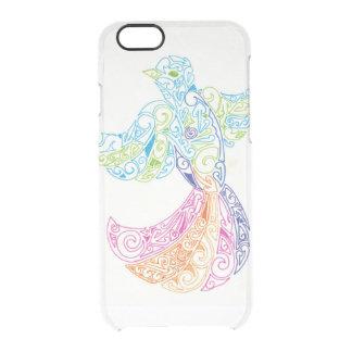 cubierta maorí del teléfono del diseño del pájaro funda transparente para iPhone 6/6s
