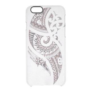 Cubierta maorí del teléfono del diseño funda transparente para iPhone 6/6s