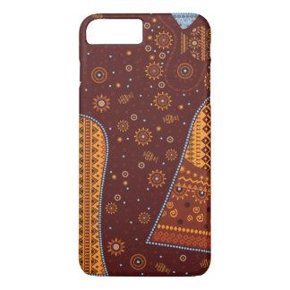 cubierta más del iPhone 7, africano, estilo Funda iPhone 7 Plus