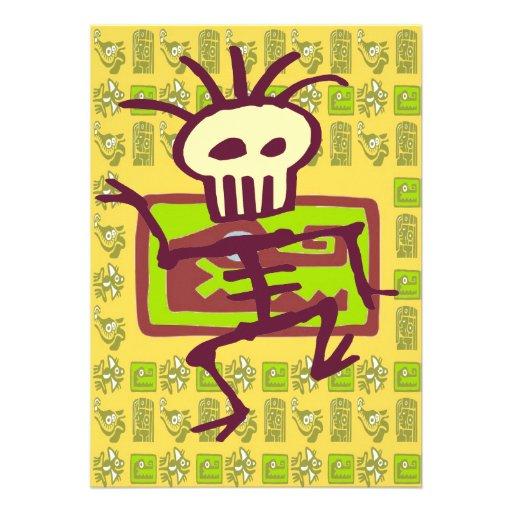 Cubierta maya del cocodrilo, hombre del hueso anuncio personalizado