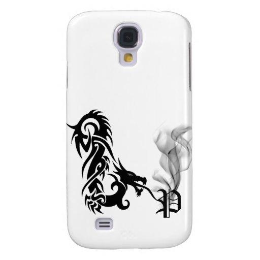 Cubierta negra del monograma P iPhone3G de la resp