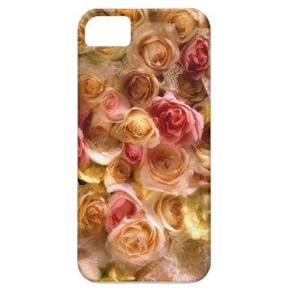 Cubierta nupcial rosada del iPhone 5 de los rosas Funda Para iPhone 5 Barely There