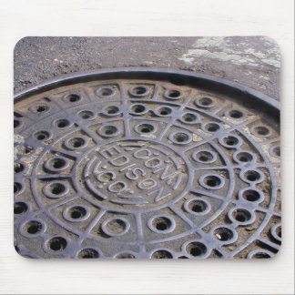 Cubierta NYC de Edison de la estafa Tapete De Ratones