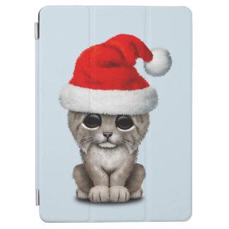 Cubierta Para iPad Air Lince lindo Cub que lleva un gorra de Santa
