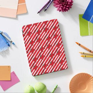 Cubierta Para iPad Air Modelo de las rayas del rojo de Sr. Strong el  