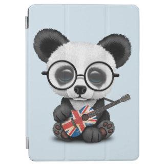 Cubierta Para iPad Air Panda del bebé que toca la guitarra británica de