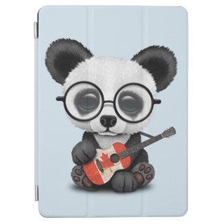 Cubierta Para iPad Air Panda del bebé que toca la guitarra canadiense de