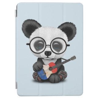 Cubierta Para iPad Air Panda del bebé que toca la guitarra francesa de la