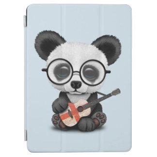 Cubierta Para iPad Air Panda del bebé que toca la guitarra inglesa de la