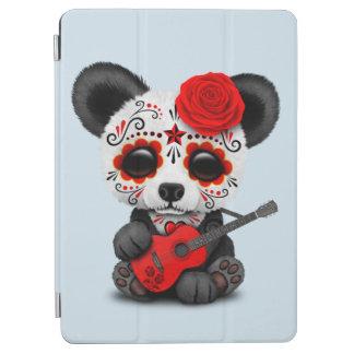 Cubierta Para iPad Air Panda roja del cráneo del azúcar que toca la