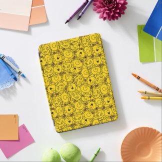 Cubierta Para iPad Air Pequeño modelo de las sonrisas del amarillo de la