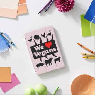 Cubierta Para iPad Mini Amamos a veganos II (el negro)