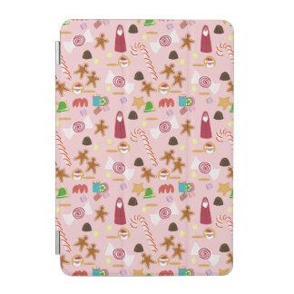 Cubierta Para iPad Mini Bastones y chocolates de caramelo en rosa