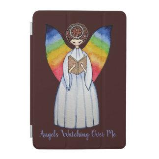 Cubierta Para iPad Mini El ángel de la acuarela con el arco iris se va
