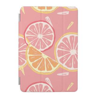 Cubierta Para iPad Mini Modelo tropical del pomelo rosado y del limón de