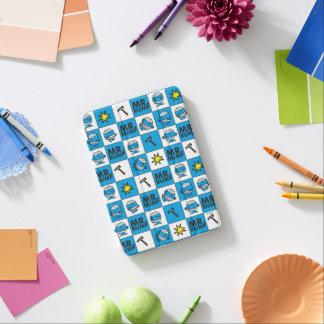 Cubierta Para iPad Mini Mosaico de Sr. Bump el   en modelo azul