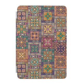 Cubierta Para iPad Mini Remiendo del vintage con los elementos florales de