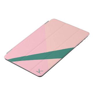 Cubierta Para iPad Mini Verde geométrico elegante del melocotón del rosa