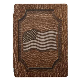 Cubierta Para iPad Pro Bandera de los E.E.U.U. de la Cuero-Mirada