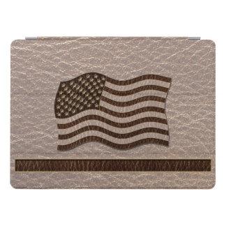 Cubierta Para iPad Pro Bandera de los E.E.U.U. de la Cuero-Mirada suave