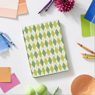 Cubierta Para iPad Pro Modelo geométrico verde retro de Argyle