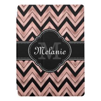 Cubierta Para iPad Pro Monograma color de rosa del blanco del negro del