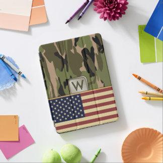 Cubierta Para iPad Pro Monograma de Camo de la bandera americana