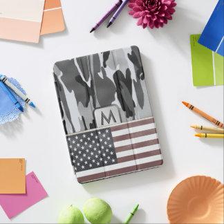 Cubierta Para iPad Pro Monograma de Camo del invierno de la bandera