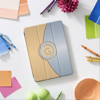 Cubierta Para iPad Pro Monograma moderno del oro y de la plata
