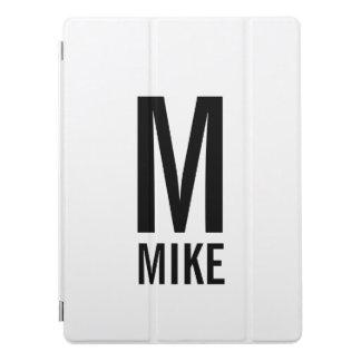 Cubierta Para iPad Pro Monograma y nombre intrépidos personalizados