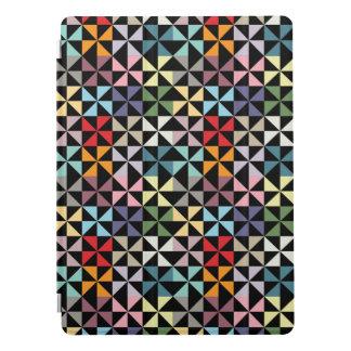 Cubierta Para iPad Pro Negro geométrico colorido del molinillo de viento