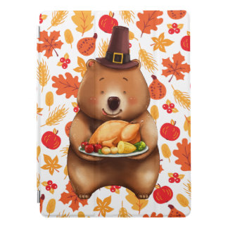 Cubierta Para iPad Pro oso del pilgram con el fondo festivo