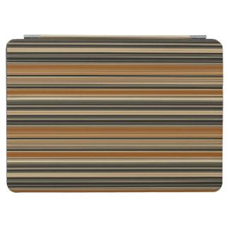 Cubierta Para iPad Pro Silla de montar Brown y modelo rayado negro