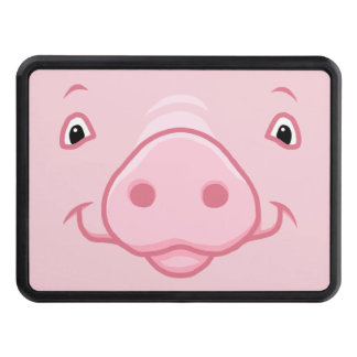 Cubierta Para Remolque Cara rosada feliz linda del cerdo